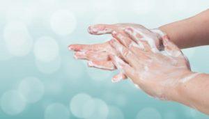 Droge handen door het wassen, 28-4-2020